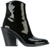 A.F.Vandevorst slanted heel ankle boots - women - Calf Leather/Leather - 36