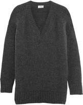 Prada Oversized Angora-blend Sweater - Charcoal