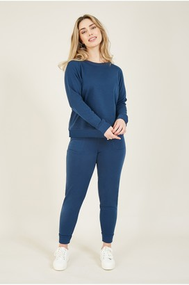 Yumi Navy Jersey Loungewear Joggers