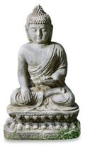 Bed Bath & Beyond Campania Seated Lotus Buddha Garden Statue
