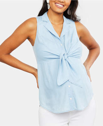 Motherhood Maternity Tie-Front Shirt