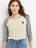 Gap | Disney Minnie Mouse three-quarter baseball tee