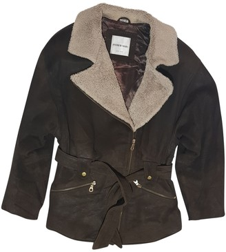 Andrew Marc Brown Leather Jacket for Women