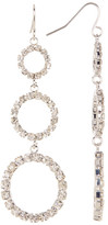 Natasha Accessories Crystal Circle Trip Drop Earrings