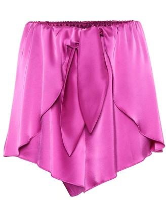 Nanushka Naila satin shorts
