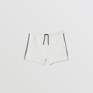 Burberry Logo Tape Cotton Drawcord Shorts