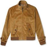 Prada Leather-Trimmed Cotton-Corduroy Jacket