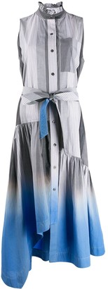 Derek Lam 10 Crosby Nerioa Dip Dye Stripe Maxi Dress