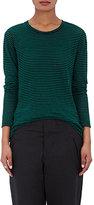 Etoile Isabel Marant Women's Aaron Striped Linen-Cotton T-Shirt-GREEN