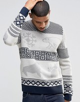 Bellfield Holidays Knitted Sweater With Polar Bear Jacquard