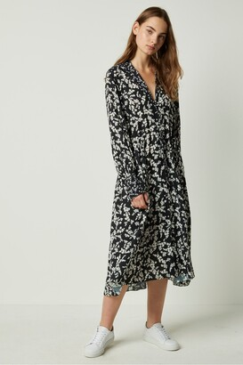 French Connection Bruna Light Midi Floral Shirt Dress