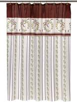 "Carnation Home Fashions Victorian Christmas"" Fabric Shower Curtain"