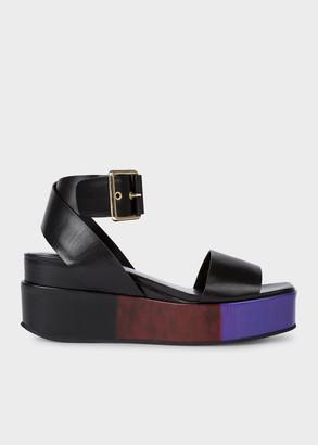 Paul Smith Women's Black 'Janis' Platform Sandals