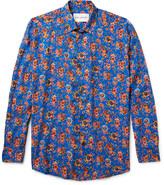 Our Legacy - Slim-fit Floral-print Matte-satin Shirt