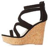 Charlotte Russe Qupid Braided Cork Wedge Sandals
