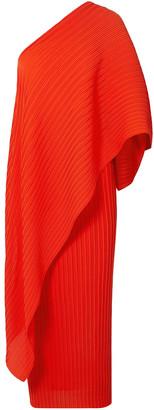 SOLACE London Sanna One-shoulder Plisse-chiffon Midi Dress