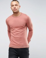 Asos Extreme Muscle Fit Jumper In Rose Brown