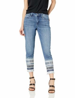 Laurie Felt Women's Classic Denim Stiletto Jeans with Decorated Hem