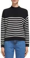 Whistles Breton-Stripe Shoulder Snap-Detail Sweater