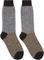 Haider Ackermann Grey & Taupe Alpaca Socks