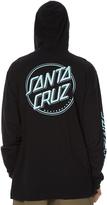 Santa Cruz Keyline Dot Hooded Ls Mens Tee Black