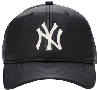 New Era 9forty Faux Leather Cap W/ Embroidery