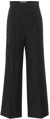 Loewe High-rise wool jacquard pants