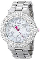Betsey Johnson Women's BJ00306-01 Analog Display Quartz Silver Watch