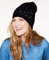 Betsey Johnson Sparkle Cuff Knit Beanie