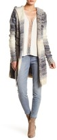 Love Stitch Hooded Open Front Cardigan