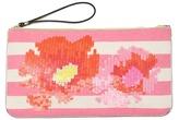 LOFT Flower Sequin Pouch