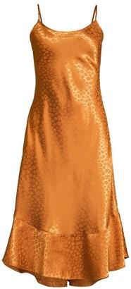 Joie Dalvin Leopard Jacquard Slip Dress