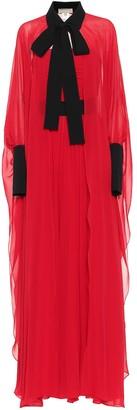 Elie Saab Pleated silk georgette gown