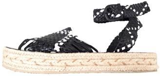 Zimmermann Black Leather Espadrilles