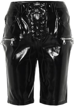Unravel Latex lace-up biker shorts