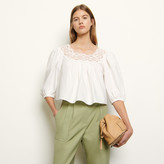 SandroSandro Loose-fitting top with puff sleeves