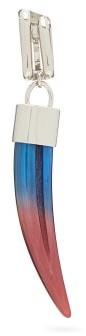 Chloé Horn-pendant Single Earring - Womens - Blue