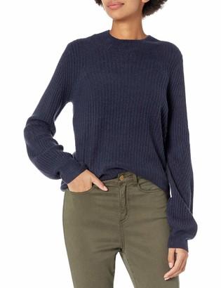 Daily Ritual Amazon Brand Women's Mid-Gauge Stretch Balloon Sleeve Crewneck Pullover Sweater