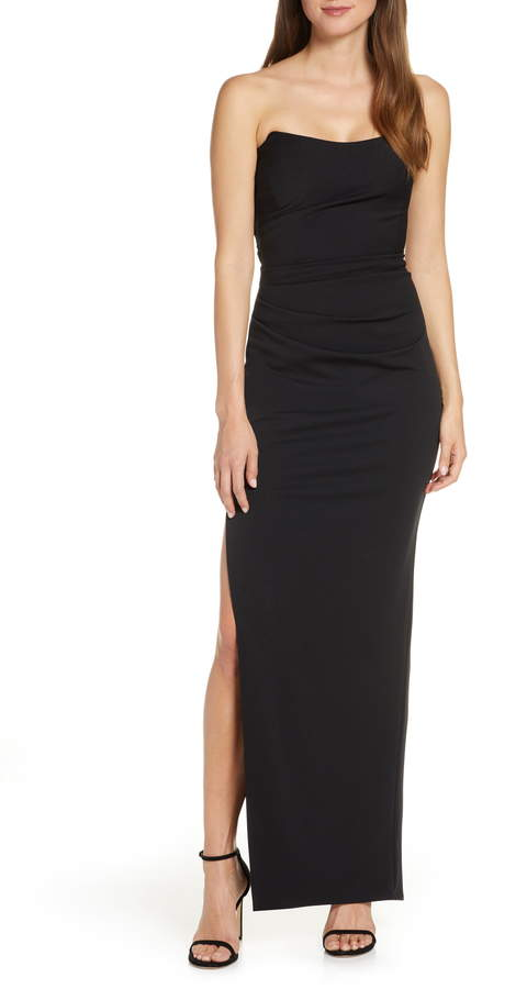 Katie May Sway Strapless Column Dress
