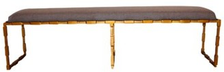 PTM Images Glam Bench Upholstery Color: Brown