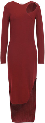 Esteban Cortazar Asymmetric Cutout Crepe-jersey Mini Dress