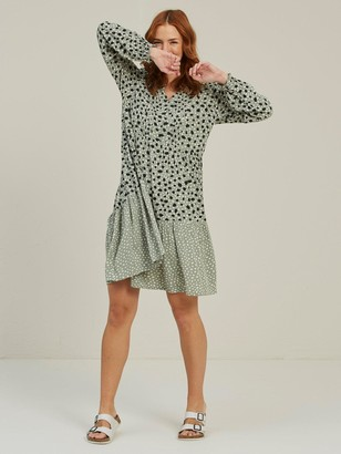 Fat Face Maye Double Spot Dress - Pistachio