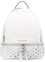 MICHAEL Michael Kors Rhea studded leather backpack - women - Cotton/Leather - One Size
