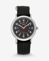 Express timex weekender black and silver watch