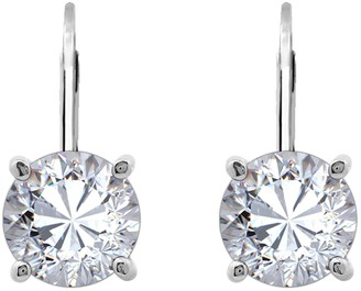 Diamonique Sterling 3.00 cttw Round Lever-BackEarrings