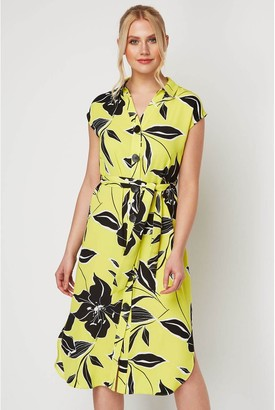 M&Co Roman Originals floral belted shirt midi dress