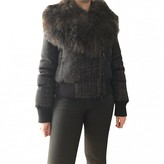 Moncler Anthracite Mongolian Lamb Leather jackets