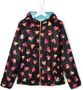 Moschino Kids - heart print jacket - kids - Polyester - 14 yrs
