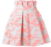 MSGM porous effect pleated skirt - women - Polyamide/Polyester/Metallic Fibre - 40