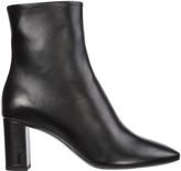 Saint Laurent Leather Heel Ankle Boots Booties Lou